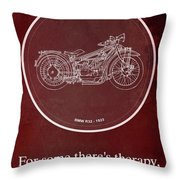 Bmw R32 1923 - For Some There's Therapy, For The Rest Of Us There's Motorcycles Throw Pillow