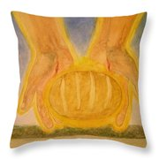 Bread From Heaven Throw Pillow by Nigel Wynter