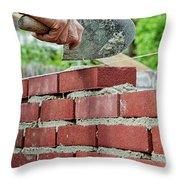 Bricklaying Throw Pillow