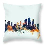 Brisbane Australia Skyline Throw Pillow
