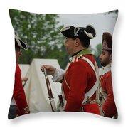 British Camp Throw Pillow