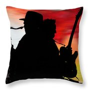 Bruce Springsteen Clarence Clemons Throw Pillow