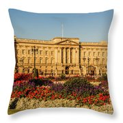 Buckingham Palace, London, Uk. Throw Pillow