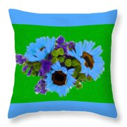 Bunch Of Pretty Flowers Throw Pillow
