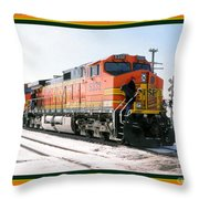 Burlington Northern Santa Fe Bnsf - Railimages@aol.com Throw Pillow