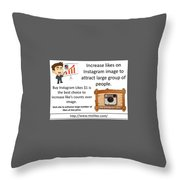 Buy Instagram Likes $1 Throw Pillow