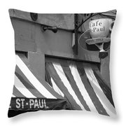 Cafe St. Paul - Montreal Throw Pillow