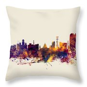 Calcutta Kolkata India Skyline Throw Pillow