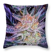 Cannabis Macro Throw Pillow