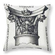 Capital And Base Of A Column Throw Pillow