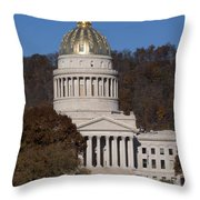 Capital Of West Virginia In Charleston Throw Pillow