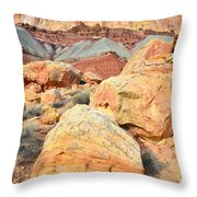Capitol Reef Sunset Throw Pillow