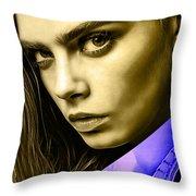 Cara Delevingne Collection Throw Pillow