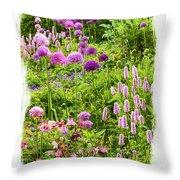 Castle Gardens Throw Pillow