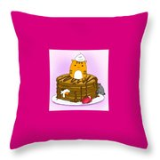 Cat In Food Throw Pillow