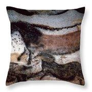 Cave Art Throw Pillow