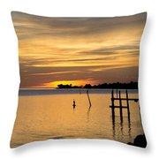 Cedar Key Sunset Throw Pillow