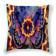 Celestial Butterfly Throw Pillow