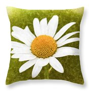 Chamomile Watercolor Throw Pillow
