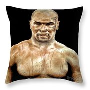 Champion Boxer And Actor Mike Tyson Throw Pillow