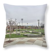 Charlotte Nc Downtown Throw Pillow