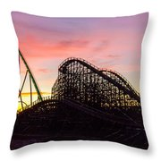Charlotte North Carolina City After Snowstorm And Ice Rain Throw Pillow