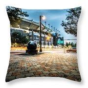 Charlotte North Carolina Street Scenes Early Morning Throw Pillow