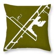 Chc Christchurch International Airport In Christchurch New Zeala Throw Pillow