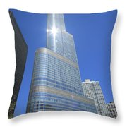 Chicago Skyscraper Throw Pillow