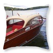 Chris Craft Throw Pillow