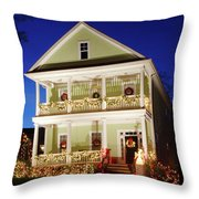 Christmas Village Throw Pillow
