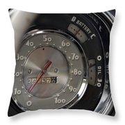 Chrome Dash Throw Pillow