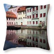 City Of Bydgoszcz In Poland Throw Pillow