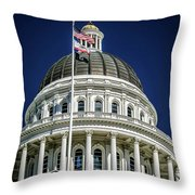 City Views Around California State Capitol Building In Sacrament Throw Pillow