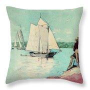 Clear Sailing Throw Pillow