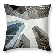 Cloudy And Rainy Day In Seattle Washington Throw Pillow