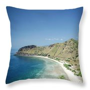 Coast And Beach View Near Dili In East Timor Leste Throw Pillow