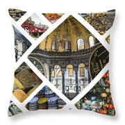 Collage Of Istanbul  Throw Pillow