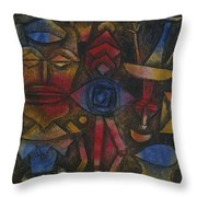 Collection Of Figurines Throw Pillow
