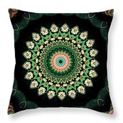 Colorful Kaleidoscope Incorporating Aspects Of Asian Architectur Throw Pillow