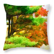 3 Colors Of The Nature 1 Throw Pillow