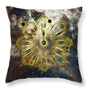 Conceptual Illustration Of Atomic Clock Throw Pillow
