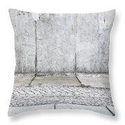 Concrete Background Throw Pillow