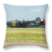 Consolidated B-24j Liberator Throw Pillow