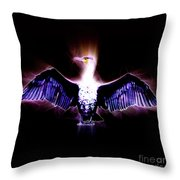 Cormorant Dries Its Wings Throw Pillow