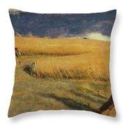 Cornfield At Ewell Throw Pillow