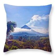 Costa Rica Volcano Throw Pillow