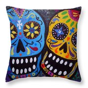 Couple Day Of The Dead Throw Pillow