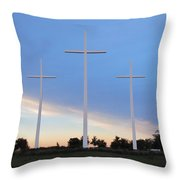 3 Cross Sunset Throw Pillow