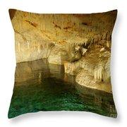 Crystal Cave In Hamilton Parish Bermuda Throw Pillow